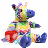 "Zip Zebra 16"" Baby Heartbeat Bear"