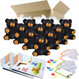 "Binx the Black Bear 8"" Party Pack"