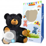 "Binx the Black Bear 8"" Baby Heartbeat Bear"