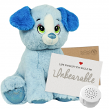 "Blue Puppy 16"" Message Bear"