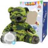 "Camo Bear 16"" Baby Heartbeat Bear"