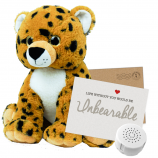 "Cheetah 16"" Message Bear"