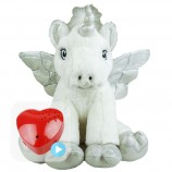 "Ice Unicorn 16"" Baby Heartbeat Bear"