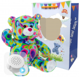 "Kaleidoscope Bear 16"" Baby Heartbeat Bear"