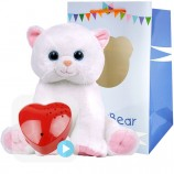 "Marshmallow Cat 16"" Baby Heartbeat Bear"
