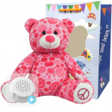 "Peace and Love Bear 16"" Baby Heartbeat Bear"