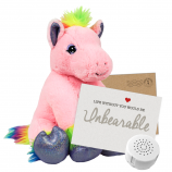 "Princess the Pink Pony 16"" Message Bear"
