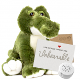 "Snappy Croc 16"" Message Bear"