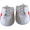 "White with Red Stripe 16"" Tennis Shoes"