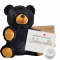 "Black Bear 8"" Message Bear"