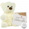 "White Twist 8"" Message Bear"