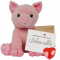"Percy Pig 16"" Message Bear"