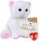 "Marshmallow Cat 16"" Message Bear"