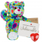 "Kaleidoscope Bear 16"" Message Bear"