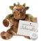 "Green Dragon 16"" Message Bear"