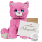 "Winnie the Pink Kitty 16"" Message Bear"
