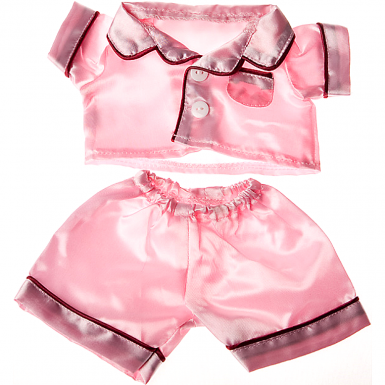 """Satin Pink Pj's 8"""" Outfit"""