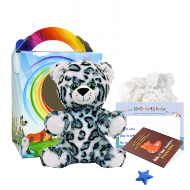 "Snow Leopard 8"" Travel Ted"