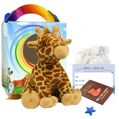 "Jerry Giraffe 16"" Travel Ted"