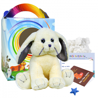 """Cottontail Rabbit 16"""" Travel Ted"""