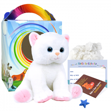 """Marshmallow Cat 16"""" Travel Ted"""