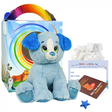 """Blue Puppy 16"""" Travel Ted"""