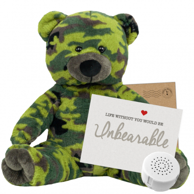 "Camo Bear 16"" Message Bear"