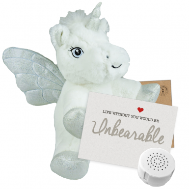 "Ice Unicorn 8"" Message Bear"
