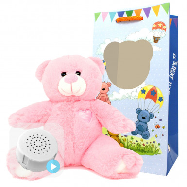 "Little Princess 8"" Baby Heartbeat Bear"