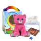 """Blush the Pink Kitty 8"""" Travel Ted"""