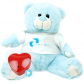 "Prince 16"" Baby Heartbeat Bear + Boy T-Shirt"