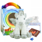 "Ice Unicorn 16"" Travel Ted"