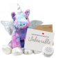 "Stardust Unicorn 16"" Message Bear"