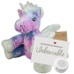 "Stardust Unicorn 8"" Message Bear"