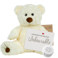 "White Twist 16"" Message Bear"