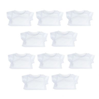 """10 Pack of 8"""" White T-Shirts"""