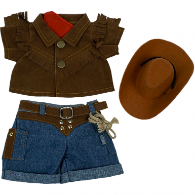 "Cowboy 8"" Teddy Bear Clothes"