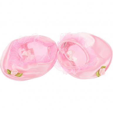 """Pink Satin 16"""" Slippers"""