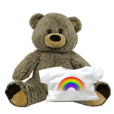 "16"" Griz Grizzly & Rainbow Printed T-Shirt"