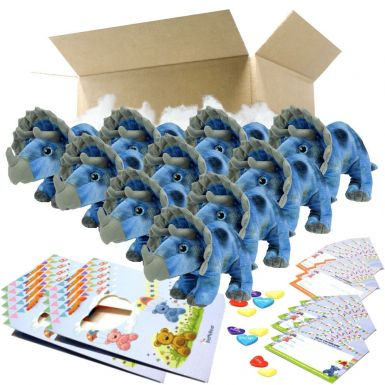 """Tricky The Triceratops 16"""" Party Pack"""