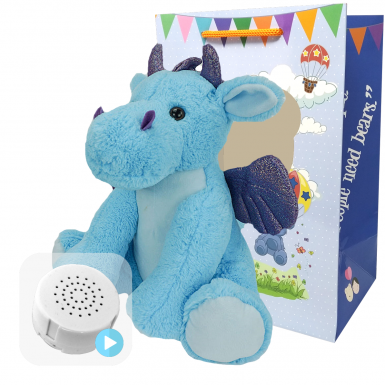 "Magic The Dragon 16"" Baby Heartbeat Bear"