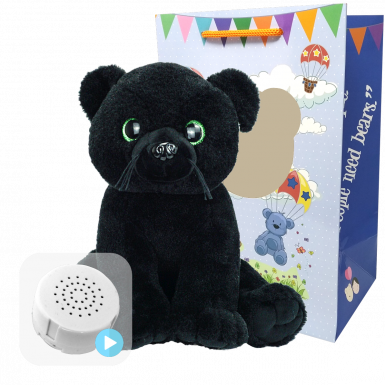 """Black Panther 16"""" Baby Heartbeat Bear"""