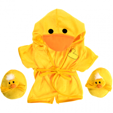 """Duck Robe & Slippers 16"""" Outfit"""