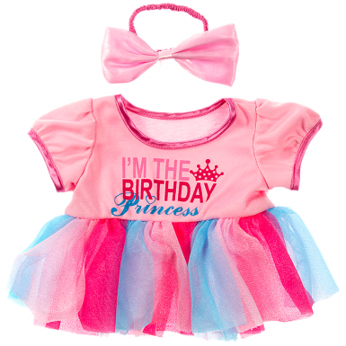 """Birthday Princess & Bow 16"""" Outfit"""