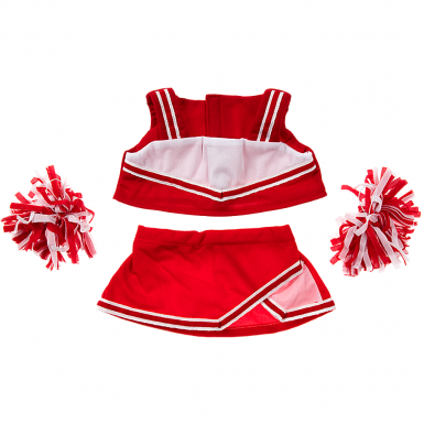 """Red Cheerleader 16"""" Outfit"""
