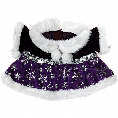 "Purple Snowflake Dress 16"" Outfit"
