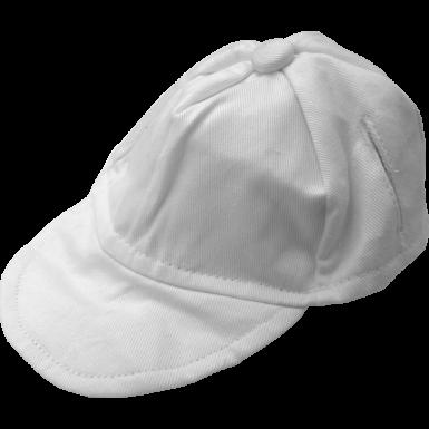 "1 White 16"" Baseball Cap"