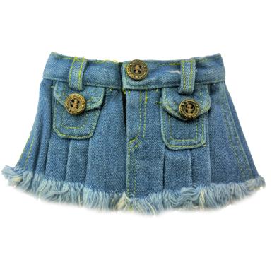 """Blue Denim 8"""" Skirt"""