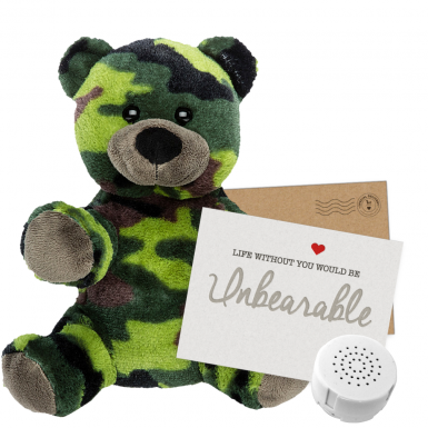 "Camo Bear 8"" Message Bear"