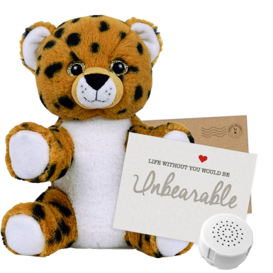 "Cheetah 8"" Message Bear"